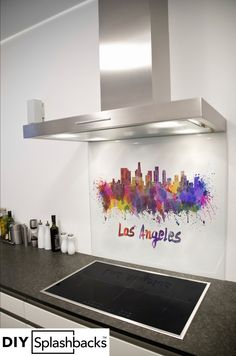 Glass Splashbacks for Kitchens Printed Glass Splashbacks, Cupcakes, Safety Glass, Country Kitchen, Home And Living, Capital City, Watercolour, Kitchen Appliances, Abstract