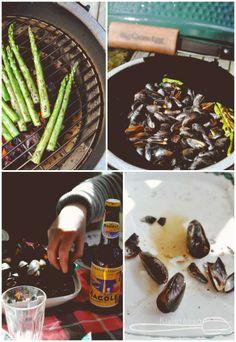 Grilled bluemussels with herb butter - Kivistössä Foodblog www.kivistossa.com