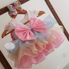 Carnival Birthday Parties, Circus Birthday, Birthday Tutu, Gold Birthday, 1st Birthday Girls, Rainbow First Birthday, Tutu Party, Baby Bloomers, Cute Outfits For Kids