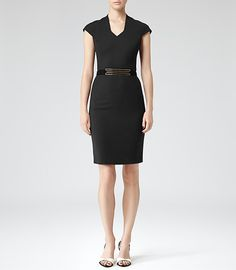 Must have.  Claire Underwood told me so.  Womens Black Tailored Dress - Reiss Leena