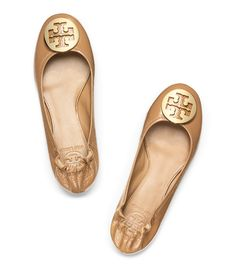 Nude Tory Burch flats go with everything!