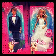 Ken & Barbie. I was never allowed to have a Ken doll - I just cut the hair off one barbie and put a big sweater on her.