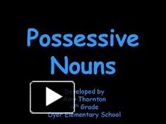 A singular possessive noun shows ownership by one person, place, or thing. Singular or Plural Possessive? The calves' tails were swaying in the wind. Singular Possessive Nouns, Smart Board Activities, 3rd Grade Reading, Student Teaching, Esl, Second Grade, Homework, Grammar, Language Arts