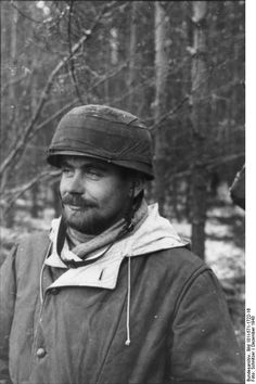 German paratrooper in the woods.  Russia  December 1943, pin by Paolo Marzioli