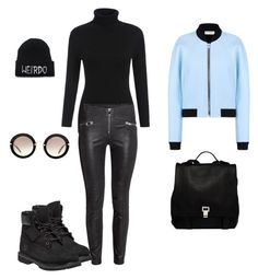 """Baby blue"" by dawn-wickham on Polyvore featuring Timberland, Miu Miu, Balenciaga, Proenza Schouler, women's clothing, women's fashion, women, female, woman and misses"