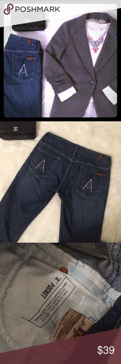 """🎉SALE🎉7 for all mankind jeans Excellent condition Seven for all mankind jeans size 29. 💛Dimensions: waist: 16"""",rise:8"""", inseam: 28.9"""". 7 For All Mankind Jeans Straight Leg"""