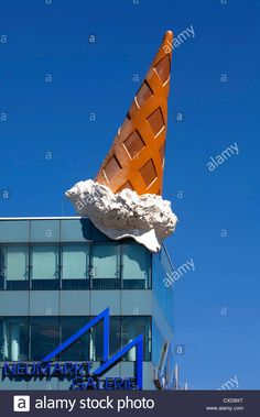 Dropped Cone, by the pop-art artist Claes Oldenburg, ice cone ...