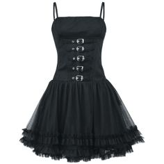 Buckle Front Dress- I'd wear it with a leather jacket, ripped leggings, and boots Gothic Mode, Gothic Lolita, Alternative Mode, Alternative Fashion, Gothic Outfits, Gothic Dress, Dark Fashion, Gothic Fashion, Estilo Rock