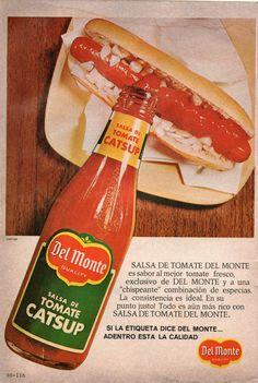 Salsa de tomate catsup Del Monte. Ad from 1967.