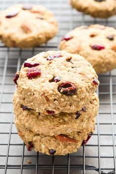 Fruit & Nut Breakfast Cookies. All-natural, vegan and gluten-free.   EverydayEasyEats.com