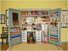 20 Crafty Workspace + Storage Ideas from Ikea. Love Ikea for my craft room. Craft Organization, Craft Storage, Storage Ideas, Organizing Crafts, Storage Solutions, Closet Solutions, Space Crafts, Home Crafts, Craft Space