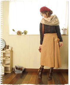 アトリエのお花×巻きスカート。   cawaiiオリジナルデザイン