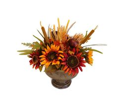Thanksgiving Sunflower Apple Table Fall Centerpiece by Perpetual Posy on Etsy