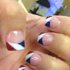 patriotic nail design   4th of July Nails 2012