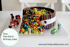 Make a Paw Patrol Birthday Cake in 9 easy steps! #PawPatrol