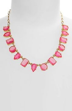 The gems look like cute little gumdrops! Necklace by Kate Spade.
