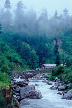 The Beas River in the Kulu Valley,  just beautiful