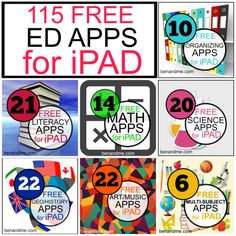 Back to school time is a great time to evaluate those iPad apps. Or perhaps you budgeted some dollars to buy a new iPad and you& looking for some great apps. I& scoured the Apps Free Educational Apps, Educational Technology, Homeschool Apps, Homeschooling, Ipad Apps, Apps For Teachers, Teacher Apps, Teaching Technology, Technology Websites