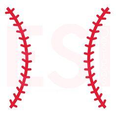 Baseball Stitches SVG Cutting File