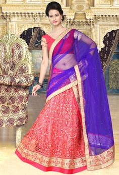 Gajri And Royal Bangalore Silk A Line #Lehenga Choli