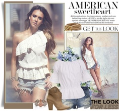 """""""The Look for Less: Denim Edition"""" by emavera ❤ liked on Polyvore"""