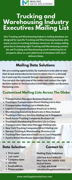 Grow Your Business With Our Unparalleled Email List Of Trucking And Warehousing Industry Executives