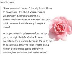 what 'have some self respect' really means