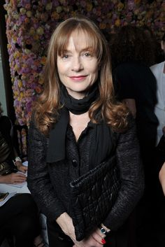 Front Row at Christian Dior, Isabelle Huppert