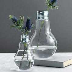 lightbulb vase by london garden trading | notonthehighstreet.com