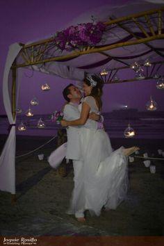 Purple #sky #candel #lights #hugs #hold #kiss #bride #groom #love #joy #marriage #sea #island #lighthouse