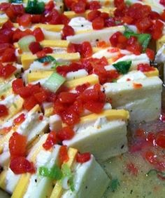 This SCREAMS gourmet, but it's so easy to make. This Marinated, cheese appetizer is unbelievable!!