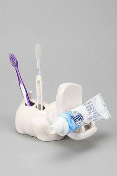 Hippo Toothbrush Holder!! :D