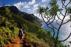 Hike the 11-mile Kalalua Trail off of the Na Pali Coast in Kauai, Hawaii