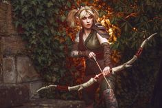 Two Amazing Cosplayers Bring Your Favorite Blackwood Characters to Life  - The Elder Scrolls Online Arrow Costume, Triss Merigold, Elder Scrolls Online, Black Oil, Red Paint, The Rock, Real Leather, Bring It On, Cosplay