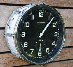 Gretsch Snare Drum Clock from TimeBeats, on Etsy.
