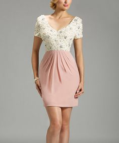 Another great find on #zulily! White & Pink Katia Dress - Plus Too #zulilyfinds