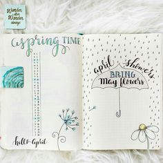 15 Super Pretty Monthlies.... Inspiration for your bullet journal or candy for your eyes. It's all good. How perfect is this monthly log for April.