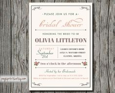 Printable Bridal Shower Invitation  Pink Roses by pegsprints, $15.00