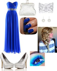 """a dream of blue!"" by abegglen-sarah ❤ liked on Polyvore"