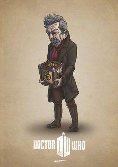 Dr. Who - 14 ilustração de cada Doutor por Randall Reis - Eu Compraria! Blog