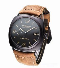 Panerai PAM 505 Radiomir Composite Black Seal 3 Day for 45 mm Ceramic (List Price: HK$74,200) 品 牌: Panerai 型 號: PAM 505 庫存狀態: 有現貨 HK$55,500. My Black, Luxury Watches, Jewels, Leather, Accessories, Fancy Watches, Bijoux, Gem, Gems