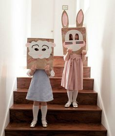 Brown Sack Easter Masks: Easy & Creative Easter Crafts - mom.me