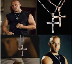 Vin diesel's Fast and Furious Stainless Steel Cross Pendant Necklace $9.99 Only!!!