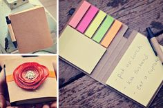 Sticky notes.   ----  I bought these from 'Pick your Plum' and they are so great.  Bought a few as stocking stuffers.  They would be easy to make yourself too!