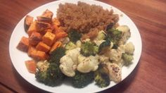roastedveggies and quinoa