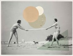Collage art by MATHILDE AUBIER + CHRISTINE DELAQUAIZE