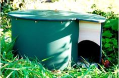 This stylish, predator proof hedgehog house offer hedgehogs a safe and long lasting refuge. As seen on BBC Autumn Watch with the Hedgehog Rescue Team! Hedgehog Food, Hedgehog House, Uk Destinations, Mini Greenhouse, Garden Gifts, Entry Doors, Compost, Grass, Gardening