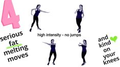 HOME EXERCISES FOR WEIGHT LOSS AND TONING. So the good news is we don't need to do jumping moves to lose weight we can do low impact moves which are high intensity, so they are still burning loads of calories and being kind on our knees at the same time. Lucy xx