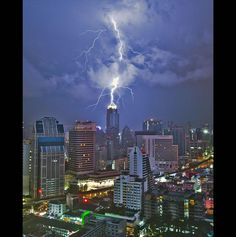 Try as you might, lightning, this building won't melt!