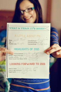 New Year Resolutions 2013 Kids Printable